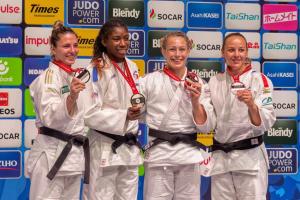 podium Marie Eve GAHIE chpts monde 2019